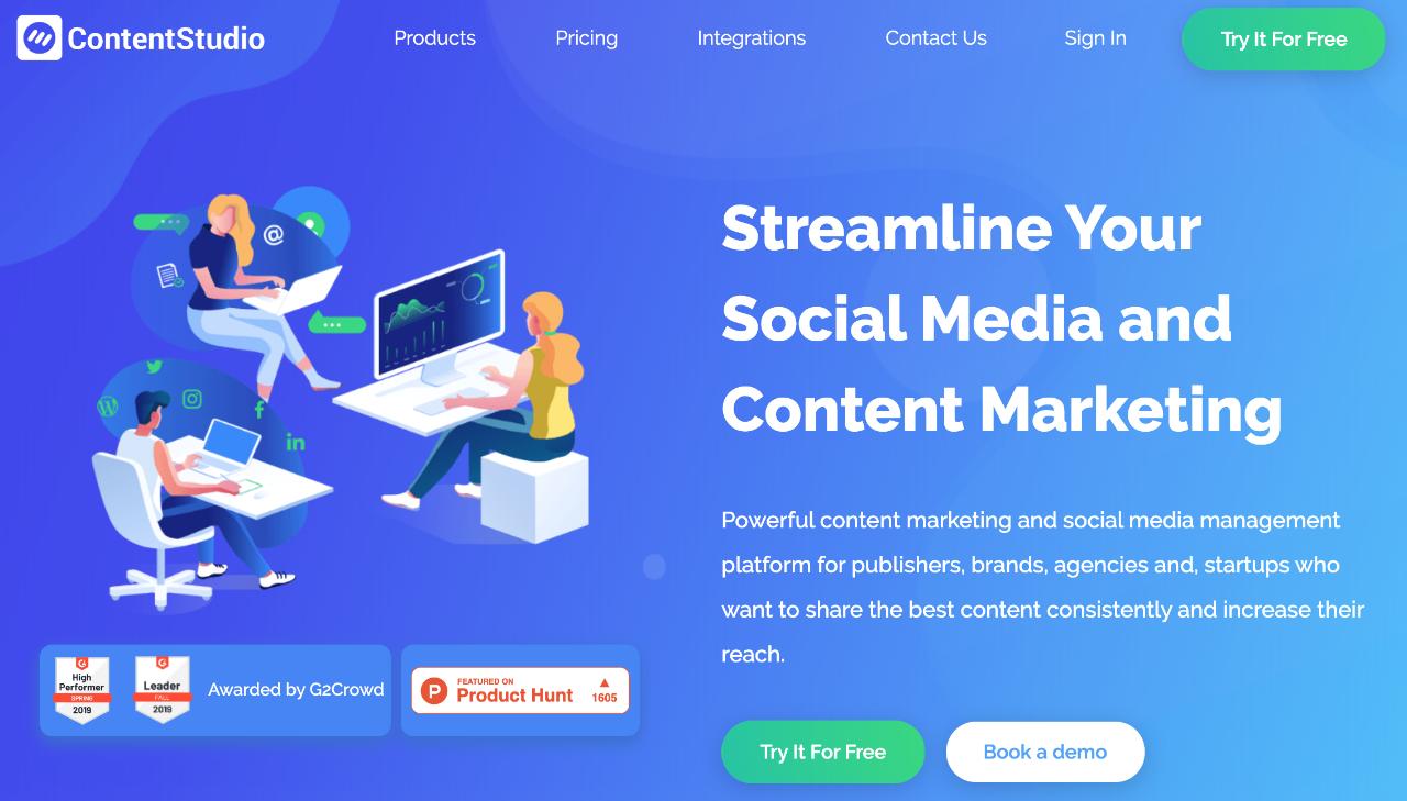Content studio est un outil de planification et de recherche de contenu