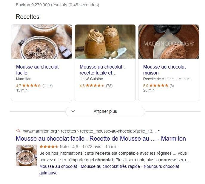 Google met en avant des résultats enrichis
