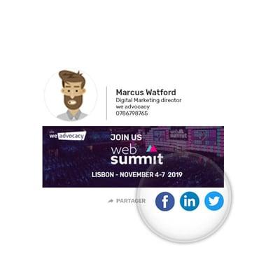 Une autre fonctionnalité originale disponible est la mise en place de boutons de partage sur les réseaux sociaux