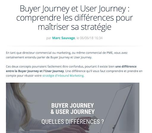 Le Buyer Journey élément essentiel de toute stratégie Inbound marketing