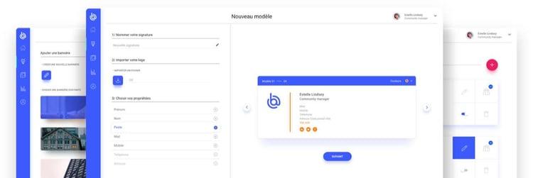 L'interface de création de signature Boostmymail