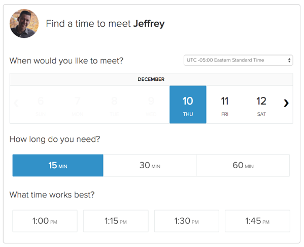 L'outil Hubspot meeting permet de gérer votre calendrier efficacement