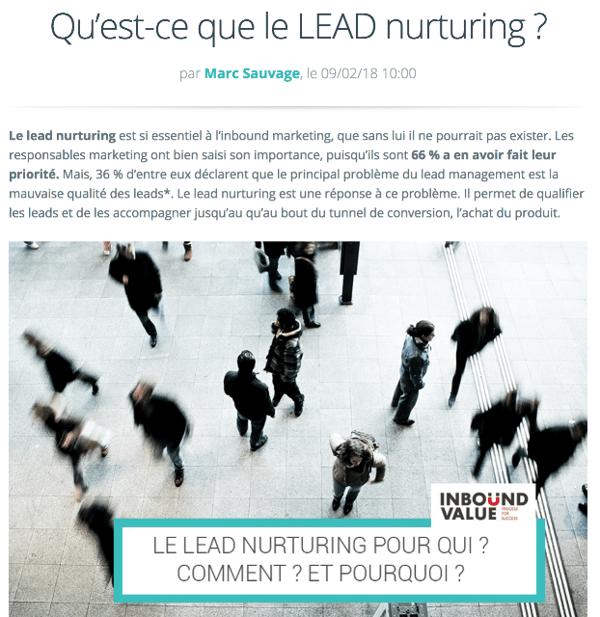 Le lead nurturing permet un gain de temps pour vos commerciaux