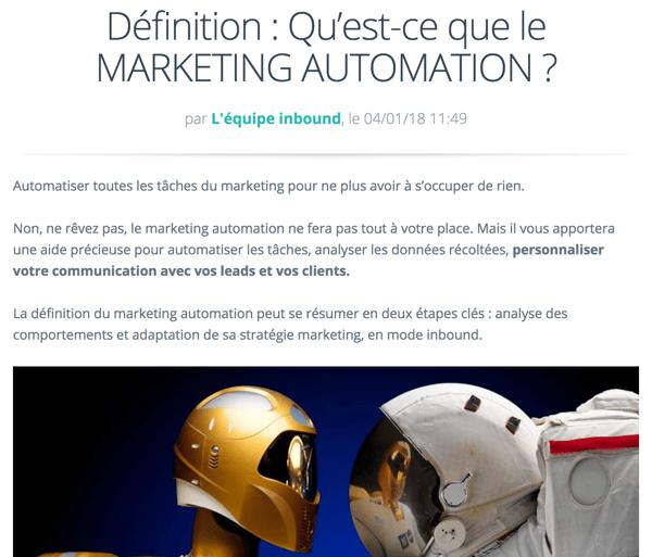 Le marketing automation est un élément essentiel dans votre stratégie Inbound