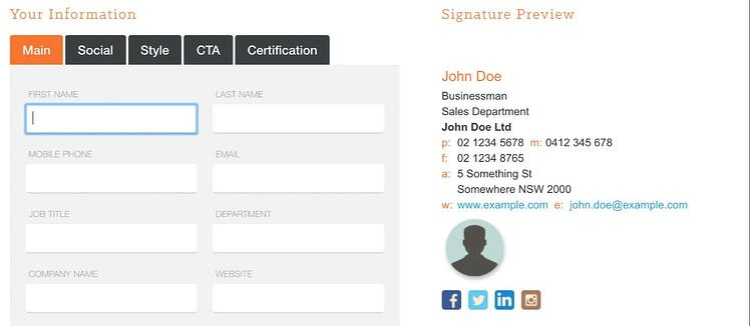 Le générateur de signature mail Hubspot permet de rajouter des call-to-actions