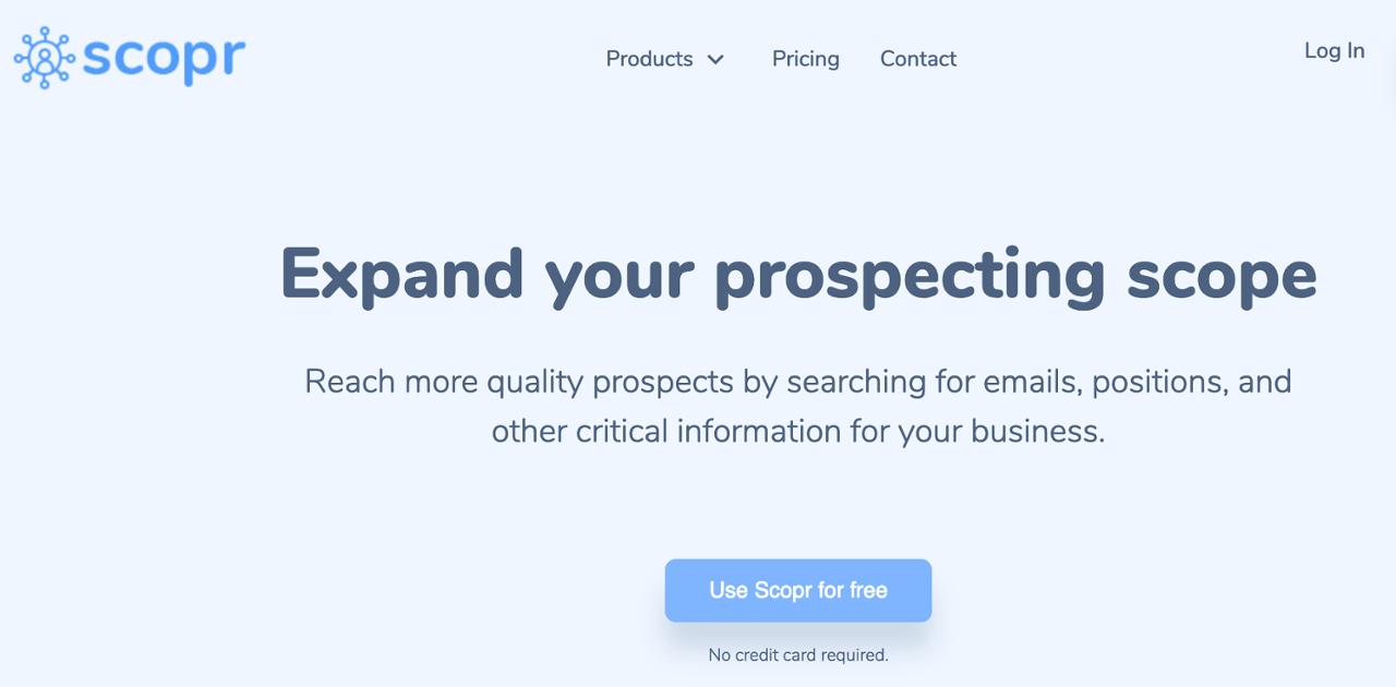 Scopr permet de cibler les bons contacts pour vos commerciaux