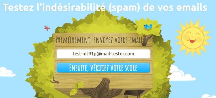 MailTester vous permet de vérifier l'adresse email de votre prospect